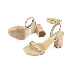 Stella mccartney natural carrington faux leather sandals 2?1511251311