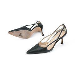 Manolo blahnik pointed lizard pumps 2?1511256745