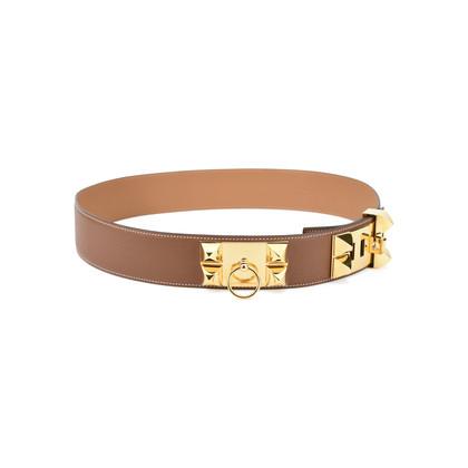 Hermes Collier De Chien Belt Brown