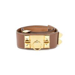 Hermes collier de chien belt brown 2?1511326853