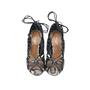 Authentic Second Hand Aquazzura Lola Lace-up Elaphe and Leather Sandal (PSS-191-00019) - Thumbnail 0
