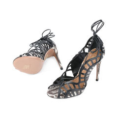 Aquazzura lola lace up elaphe and leather sandal 2?1511752781