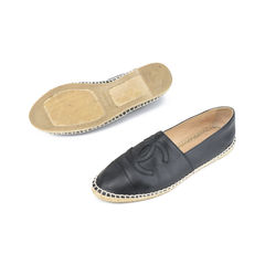 Chanel leather espadrilles black 2?1511752848