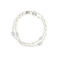 Pearl CC Logo Necklace