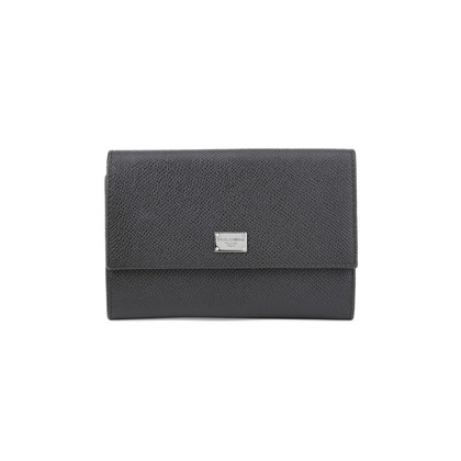 Authentic Second Hand Dolce & Gabbana Tri Fold Grained Wallet (PSS-408-00002)