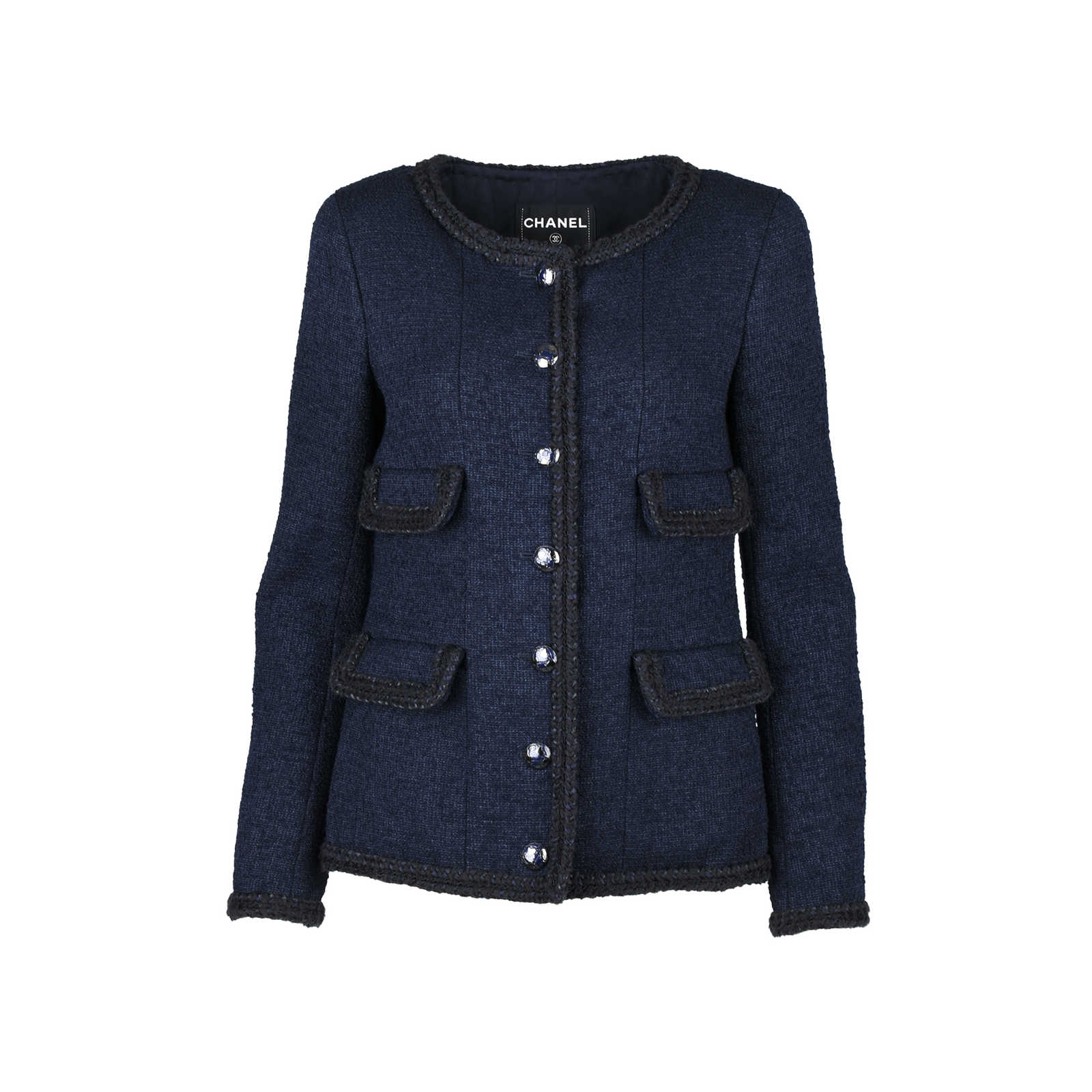 d9fe49fd1 Authentic Second Hand Chanel Navy Tweed Jacket (PSS-286-00039) - THE ...