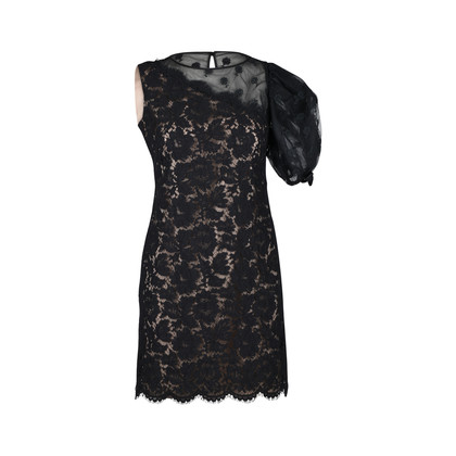 Authentic Second Hand Valentino One-Shoulder Floral Lace Dress (PSS-286-00048)