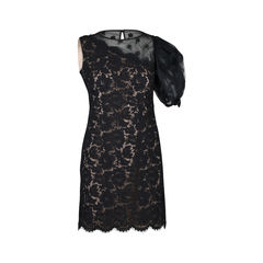 One-Shoulder Floral Lace Dress