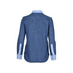 Celine patchwork denim shirt 2?1511843278