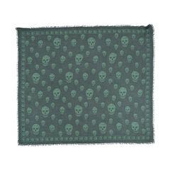 Alexander mcqueen skull scarf green 2?1511843492