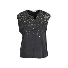 Scattered Metal Charm Top