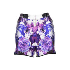 Printed Wool and Silk-Blend Shorts