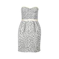 Leopard-print Jacquard Corset Dress
