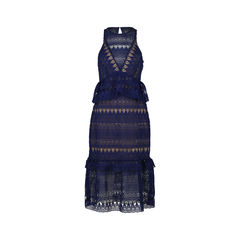 Sleeveless Teardrop Lace Maxi Dress