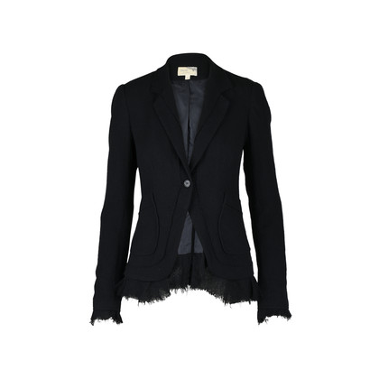 Authentic Second Hand Elizabeth and James Black Wool Blazer (PSS-379-00016)