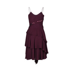 Calvin klein tiered silk dress 2?1512362533