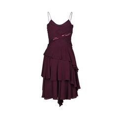 Calvin klein tiered silk dress 2?1512362533