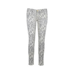 Boa Print Ankle Skinny Jeans