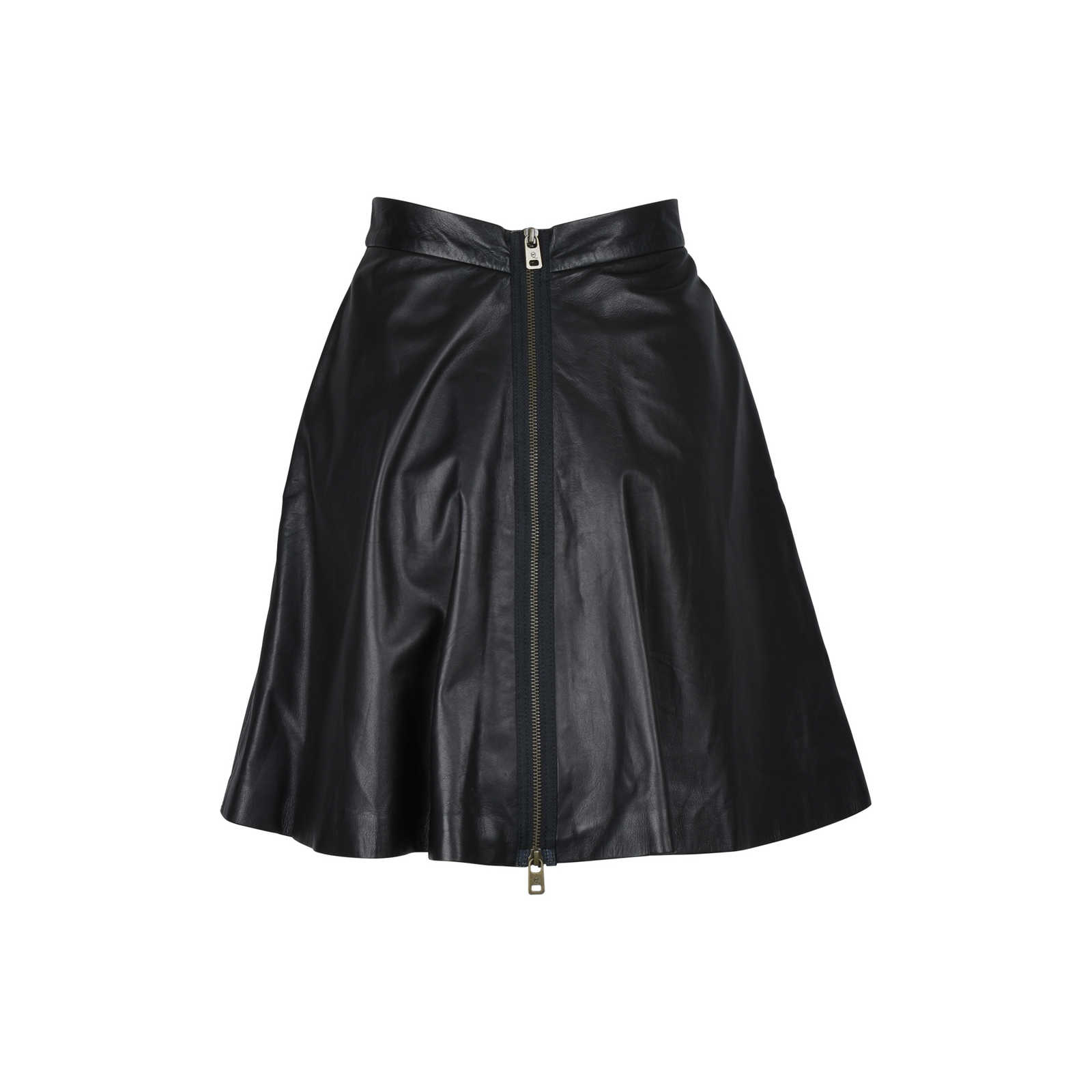 e87485c64 ... Authentic Second Hand McQ Alexander Mcqueen Leather Skirt  (PSS-097-00093) ...