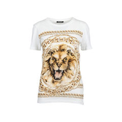 Lion and Chain Print T-Shirt