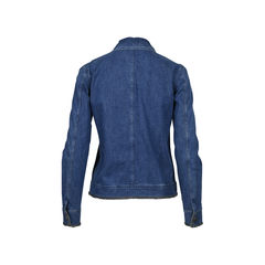 Chanel denim jacket with silver knit thread details 2?1512446511