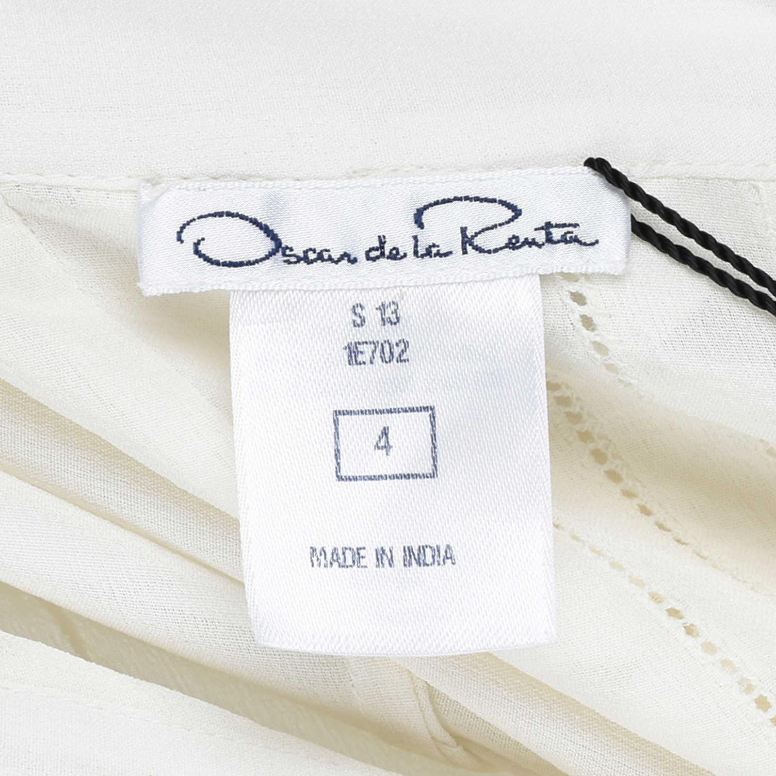 678a928750333 ... Authentic Second Hand Oscar de la Renta Pintuck Ruffle Details Silk  Blouse (PSS-200