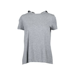 Mesh Back Bow Detail Tee