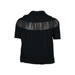 Loewe sheer pleated detail top 2?1512447543