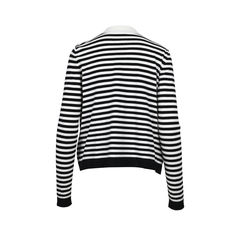 Chanel chanel black white stripes cardigan 2?1512456677