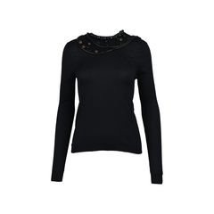 Embellished Silk Sweater