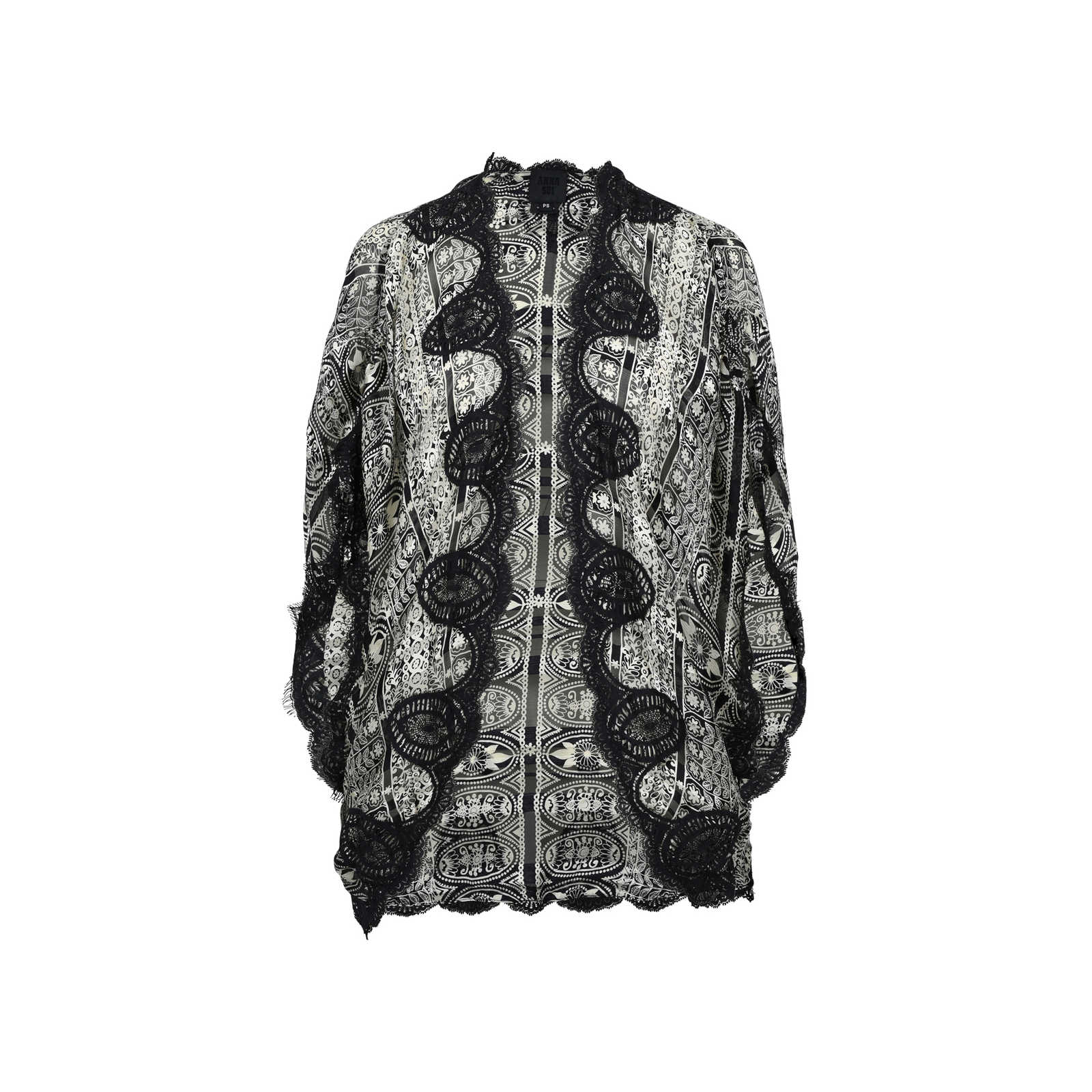 Second Hand Anna Sui Lace Silk Kimono Jacket | THE FIFTH COLLECTION