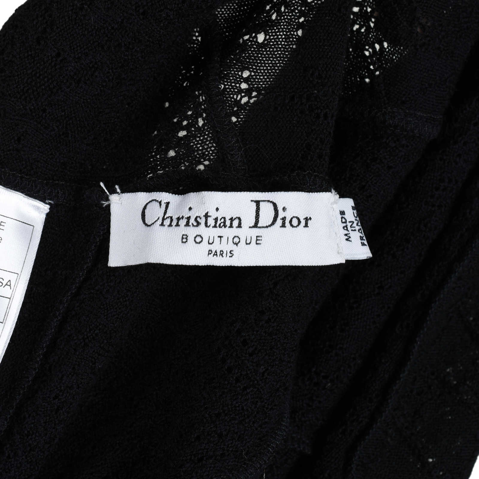 a7c8424c060 ... Authentic Second Hand Christian Dior Textured Wool Blouse  (PSS-200-00685) -