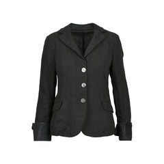 Leather Collar Blazer