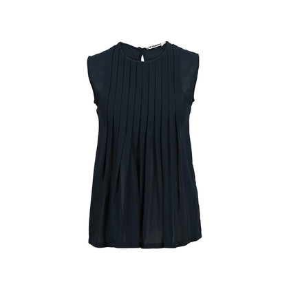 Authentic Second Hand Jil Sander Pleated Sleeveless Top (PSS-200-00727)