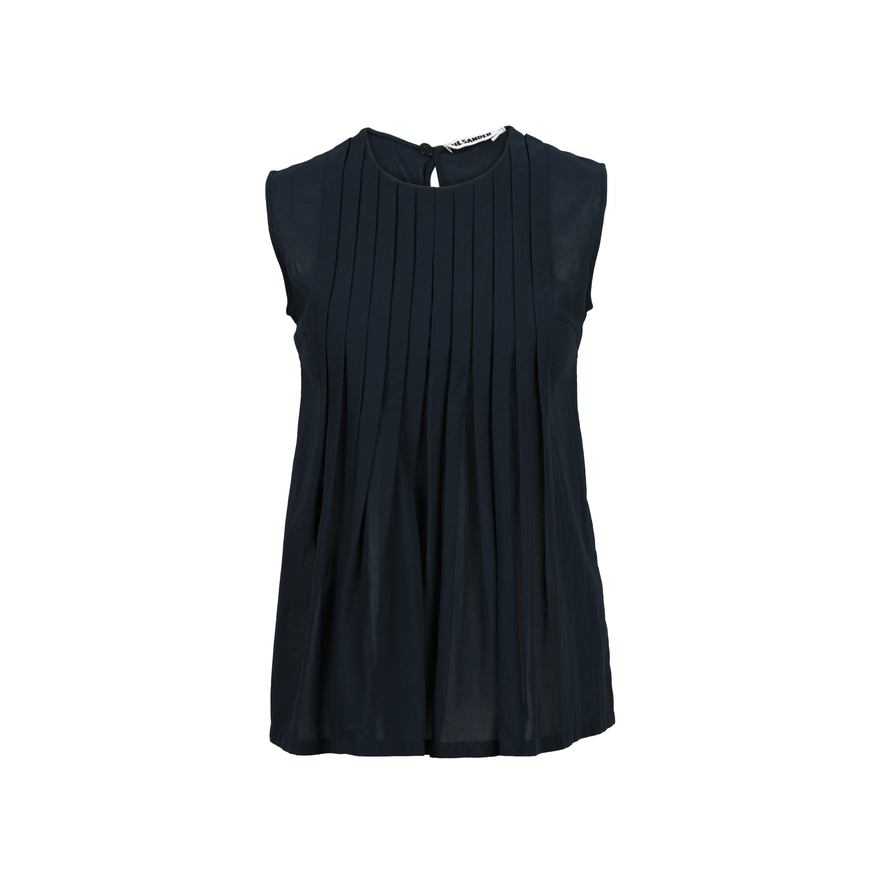 1153545929784d Authentic Second Hand Jil Sander Pleated Sleeveless Top (PSS-200-00727)