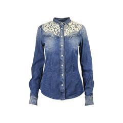 Dolce gabbana lace details denim jacket 2?1512457117
