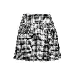 Chanel houndstooth motif tweed skirt 2?1512538269