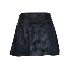 Proenza schouler basket weave leather mini skirt 2?1512538737