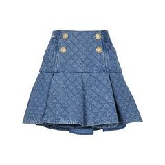 Quilted Denim Skirt