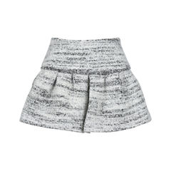 Pleated Wool Miniskirt