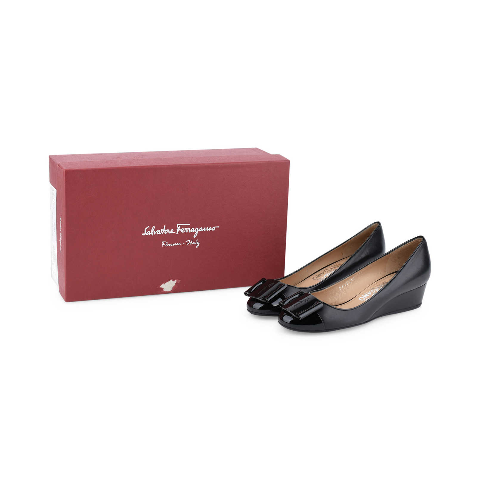 ... Authentic Pre Owned Salvatore Ferragamo Petra Wedge Pumps (PSS-431-00002)  - 14a3d4cb9a