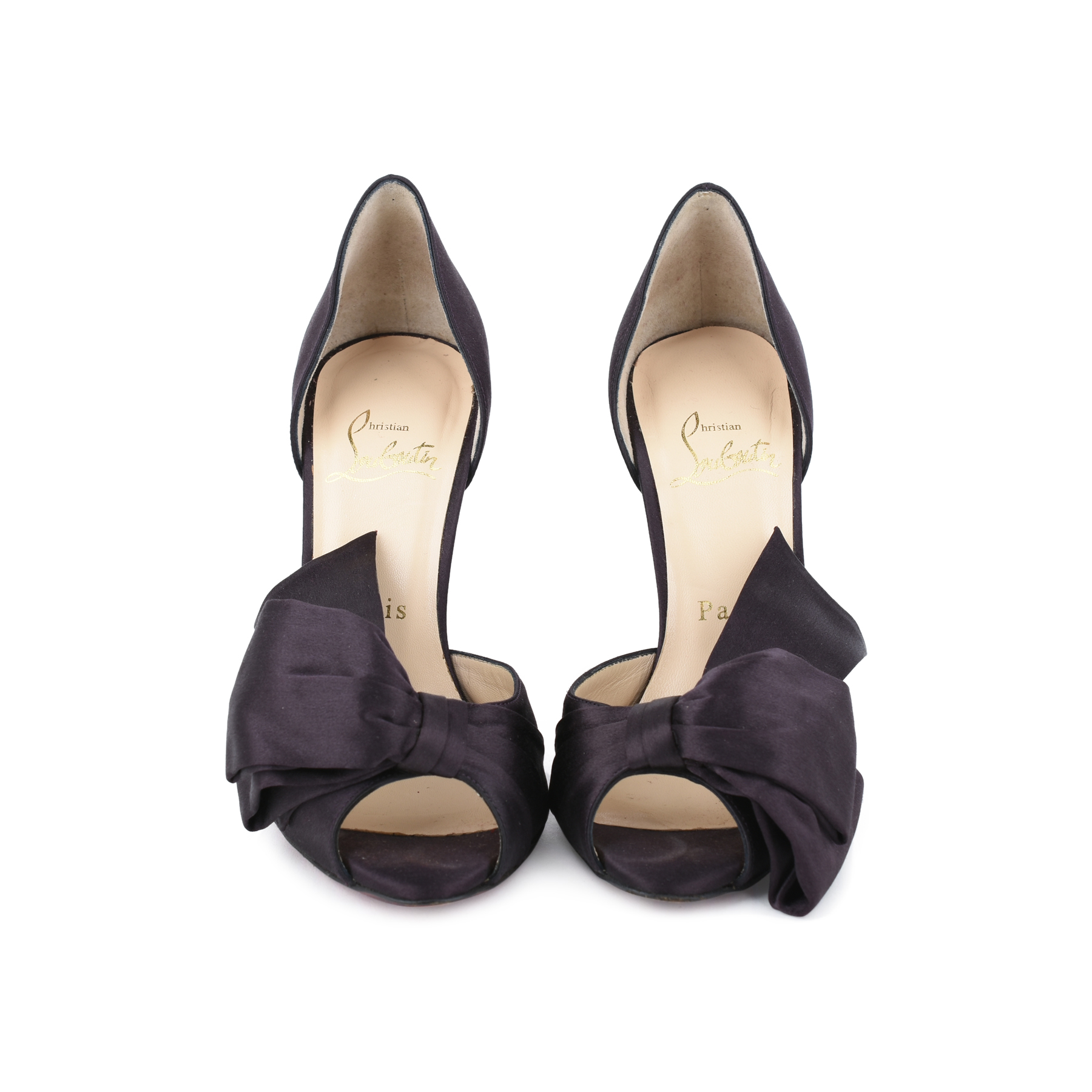 fb3195f7fa63 Authentic Second Hand Christian Louboutin Bow T Dorcet 100 (PSS-014-00041)