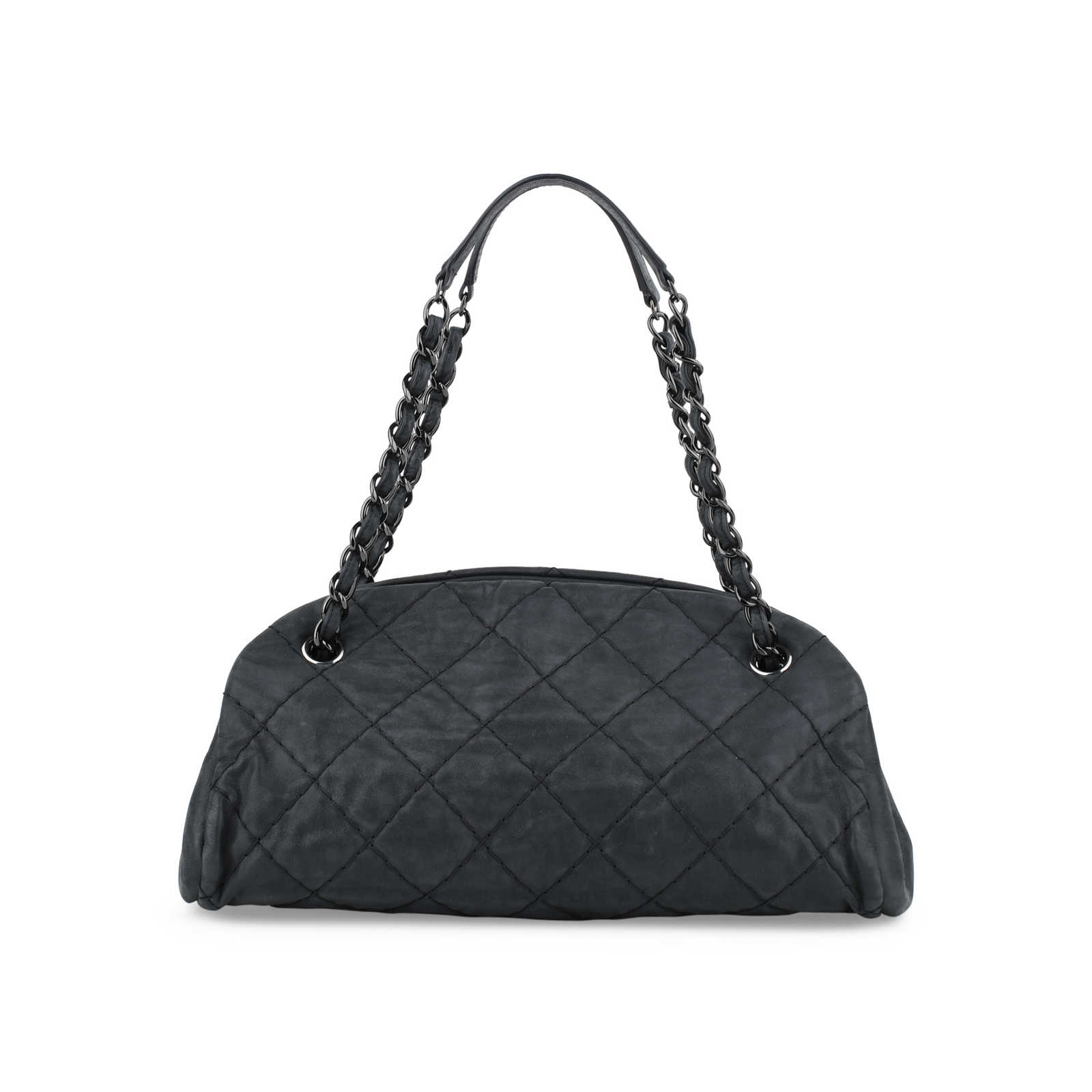e38f34e308a4 ... Authentic Second Hand Chanel Mademoiselle Bowling Bag (PSS-416-00001) -  Thumbnail ...