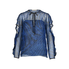 Ruffled Sleeve Printed blouse