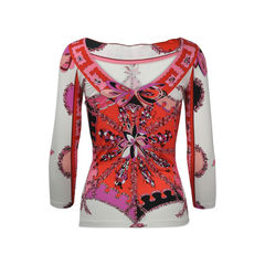 Emilio pucci printed low back top 2?1513657110