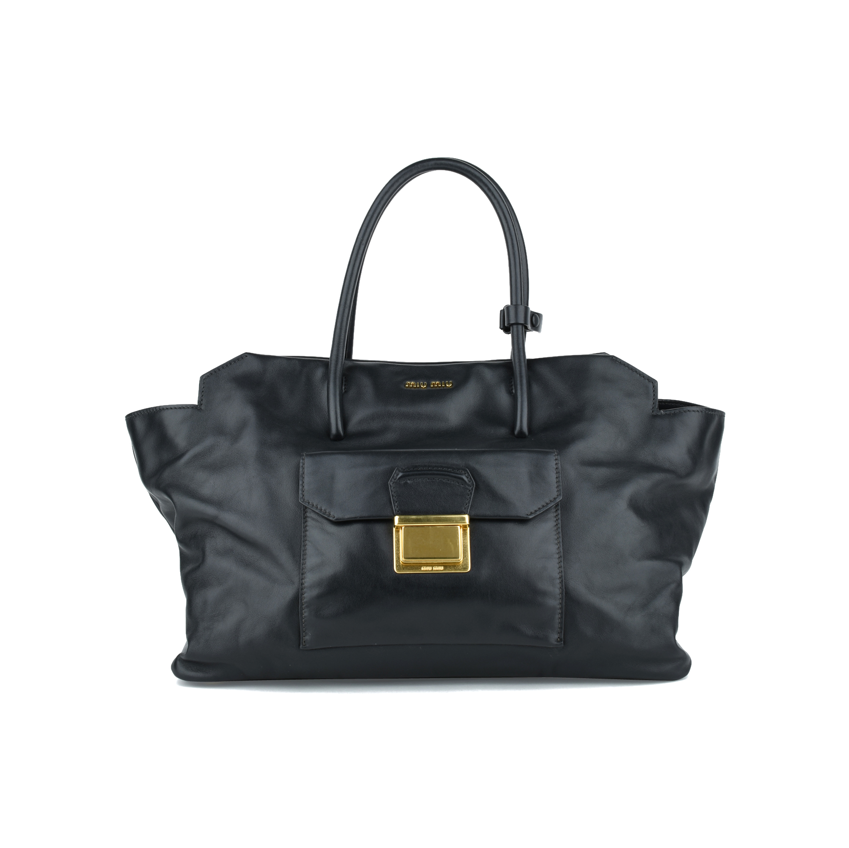 b0deab19d6a2 Authentic Second Hand Miu Miu Vitello Soft Tote Bag (PSS-416-00003 ...