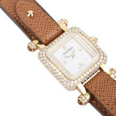 Audemars piguet 18k yellow gold diamonds deva watch 8?1513843242