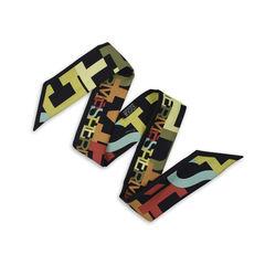 Hermes black alphabet twilly multicolour 1?1513848293