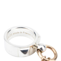 Hermes collier de chien rose gold and silver ring 5?1513999162