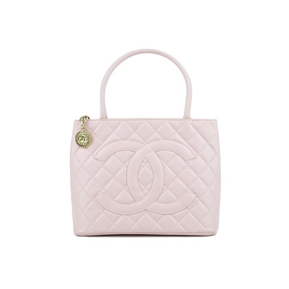 orange caviar quilted medallion chanel tote
